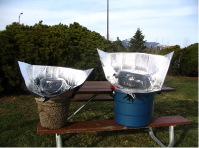Solar Sunshade Cooker