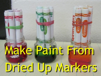 How To Make Paint From Dried Up Markers