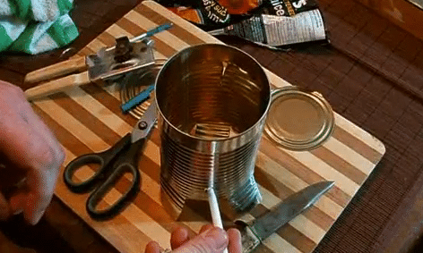 How To Make A Tin Stove