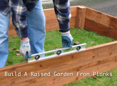 Build A Raised Garden From Planks