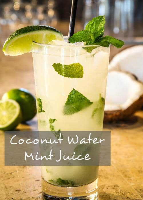 Coconut Water Mint Juice Recipe