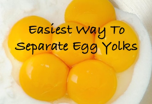 Easiest Way To Separate Egg Yolks