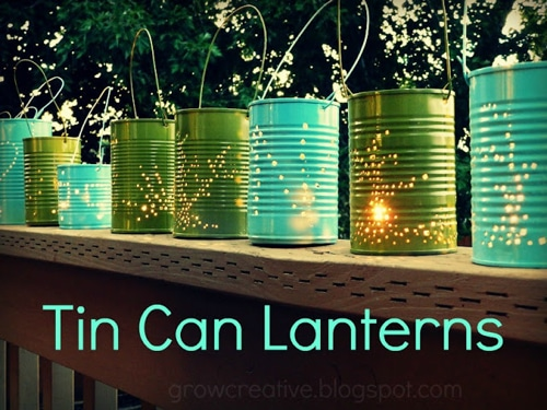 Outdoor Lighting Idea: DIY Tin Can Lantern