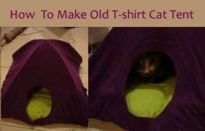 DIY Old T-shirt Cat Tent