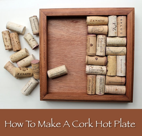 DIY Cork Hot Plate