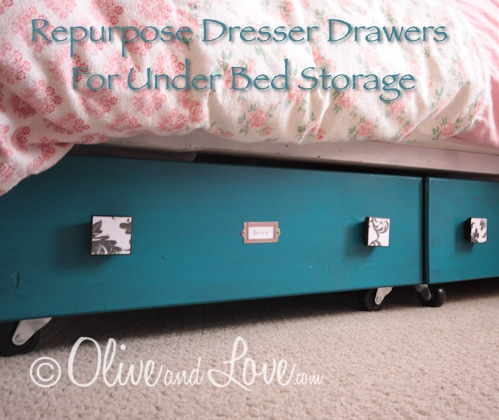 Repurpose Dresser Drawers For Under Bed Storage