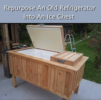 Idea! Make An Ice Chest From An Old Refrigerator