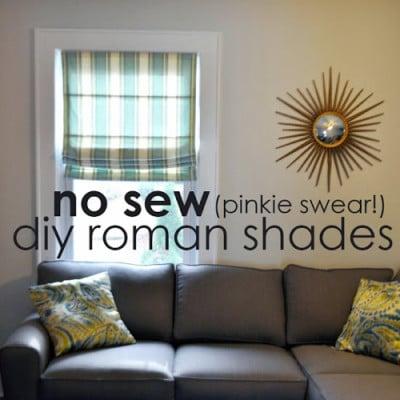No Sew DIY Roman Shade