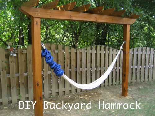 Etonnant DIY Backyard Hammock