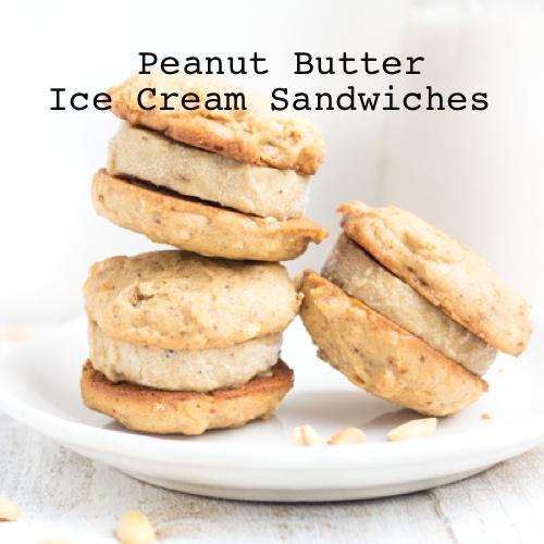 Homemade Peanut Butter & Banana Ice Cream Sandwiches