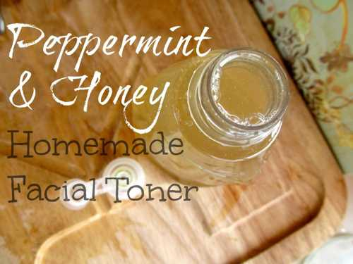 How To Make Homemade Peppermint And Honey Facial Toner