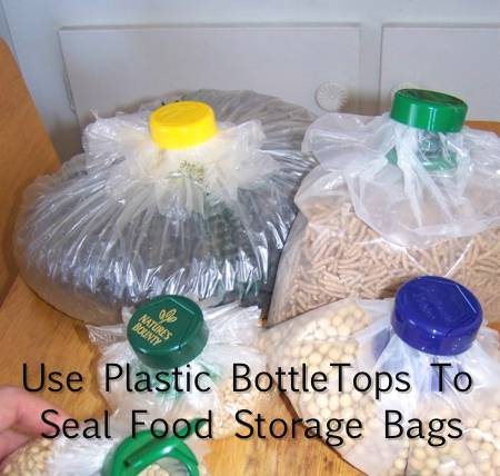 How To Use Plastic Bottle Tops To Seal Food Storage Bags