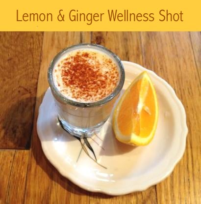 How to Make A Lemon And Ginger Wellness Shot