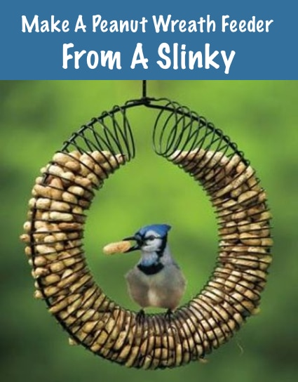 How To Make A Peanut Wreath Feeder From A Slinky