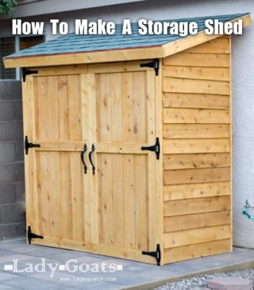 outdoor cedar storage shed for under $260. That's an excellent price