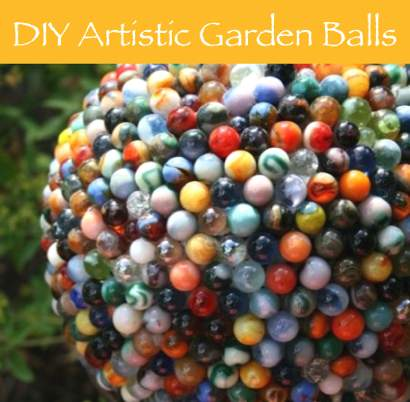 How To Make Garden Ball From Marbles