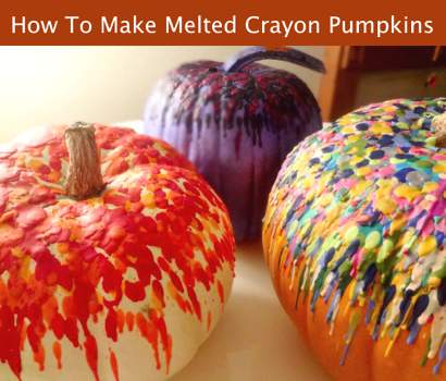 How To Make Melted Crayon Pumpkins