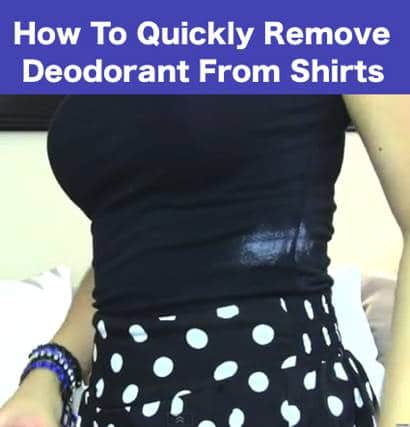 How To Quickly Remove Deodorant From Shirts