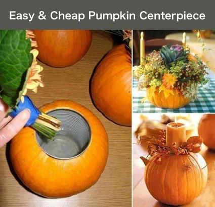 Cheap Centerpiece Ideas How To Make A Pumpkin