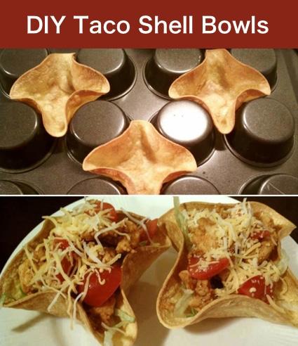 DIY Taco Shell Bowls