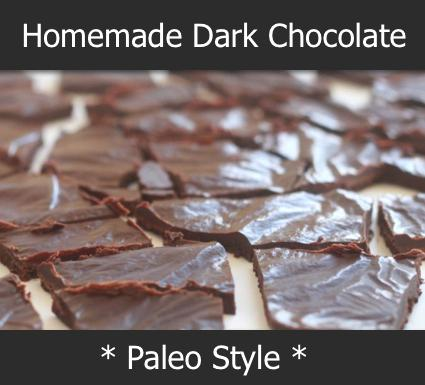 Homemade Dark Chocolate Recipe Paleo Style - Homestead & Survival