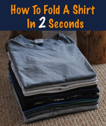 How-To-Fold-A-Shirt-In-2-Seconds