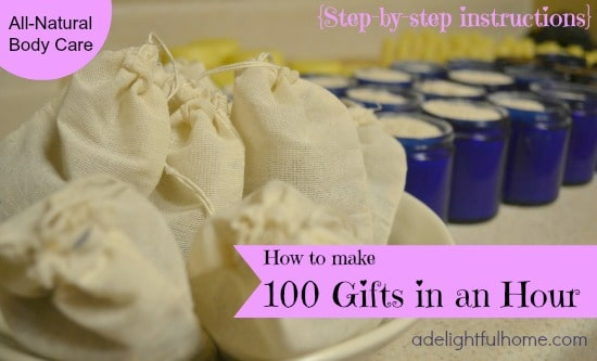 Handmade Gift Ideas: How To Make 100 Gifts In An Hour