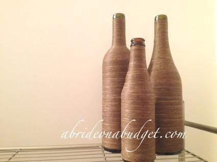 How To Make Twine-Wrapped Glass Containers