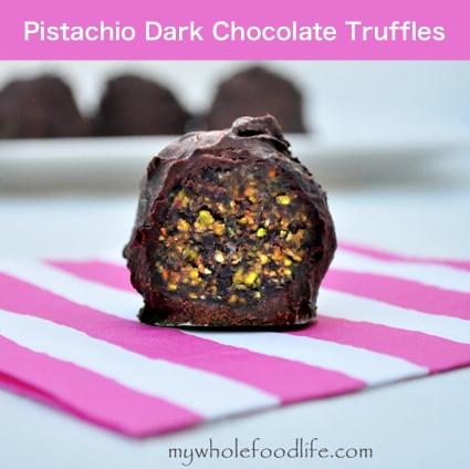 Pistachio Dark Chocolate Truffles