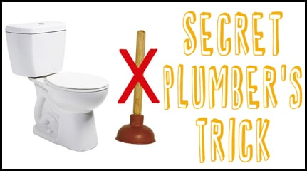 Plumber's Secret Trick To Unclog A Toilet