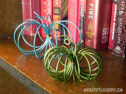 Thanksgiving Craft Ideas: Dollar Store Wire Pumpkin Tutorial