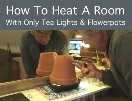 Cheap Heating: How To Heat A Room With Only Tea Lights And Flowerpots For Only 12 Cents Per Day