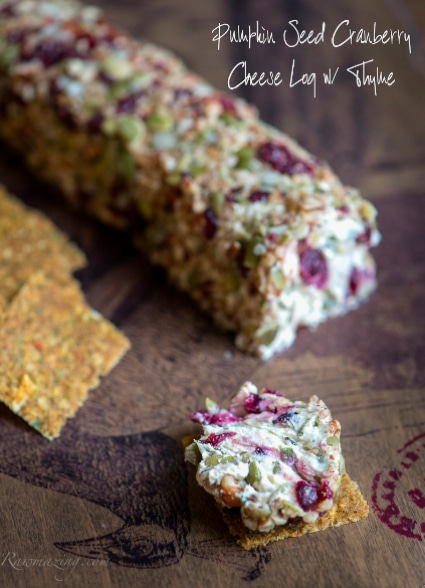 "Pumpkin Seed Cranberry ""Cheese"" Log With Thyme"