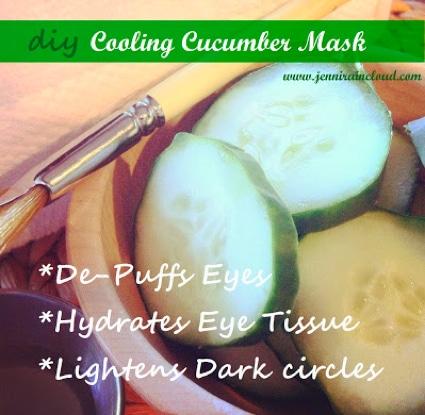 DIY Cooling Cucumber Face Mask