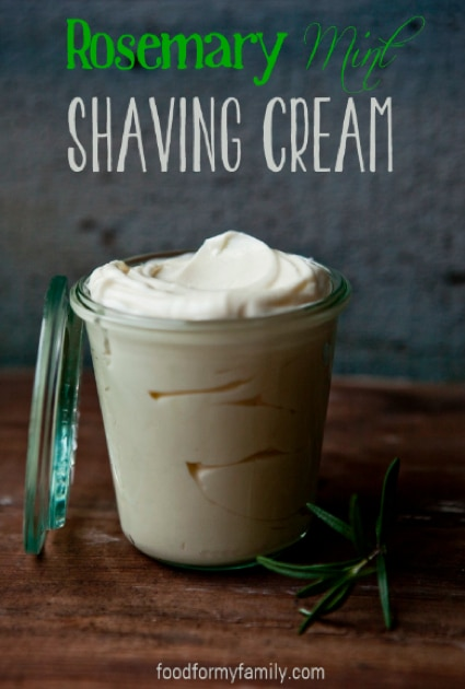 Rosemary Mint Homemade Shaving Cream Recipe