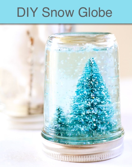 DIY Snow Globe Mason Jar