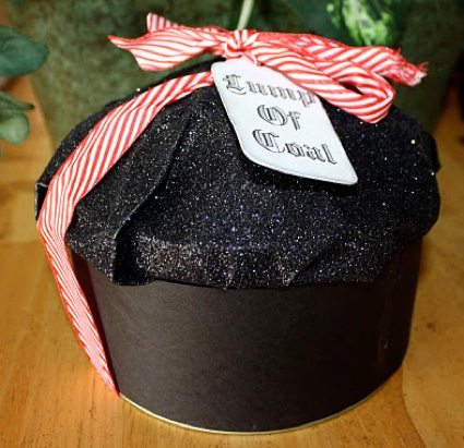 Lump Of Coal Christmas Gift Packaging