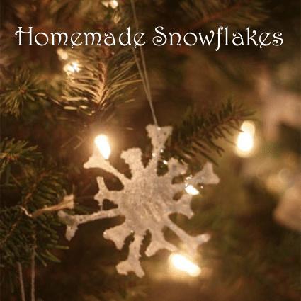 DIY Glue Snowflake Ornaments