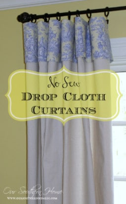 How-To-Make-No-Sew-Curtains-Using-Drop-Cloths