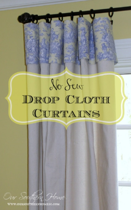 How To Make No Sew Curtains Using Drop Cloths