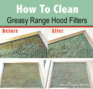 How To Clean Your Greasy Range Hood Filter