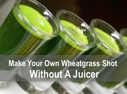 Make Your Own Wheatgrass Shots Without A Juicer