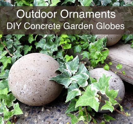 Outdoor Ornaments: DIY Concrete Garden Globes