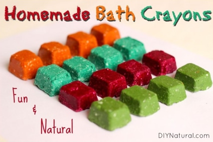 Splish Splash Kids Are Playing In The Bath: Homemade Bath Crayons