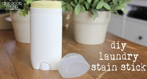 DIY Laundry Stain Remover Stick