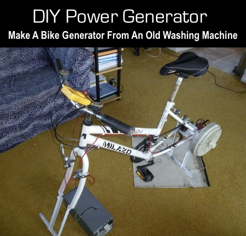DIY-Power-Generator-How-To-Make-A-Bike-Generator-From-An-Old-Washing-Machine