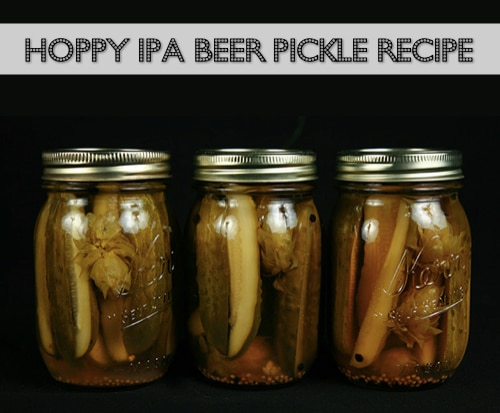 Hoppy IPA Beer Pickle Recipe