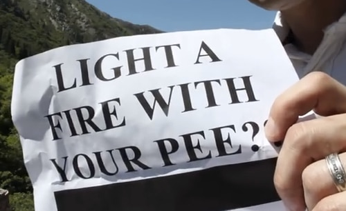 How-To-Start-A-Fire-With-Your-Pee