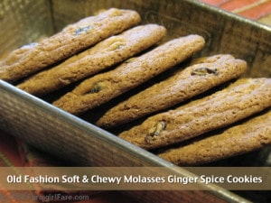 Old Fashion Soft & Chewy Molasses Ginger Spice Cookie Recipe