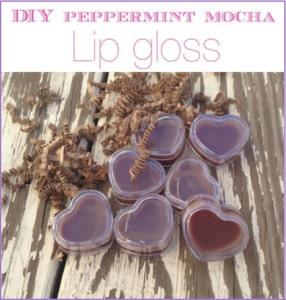 Peppermint Mocha Homemade Lipgloss Recipe